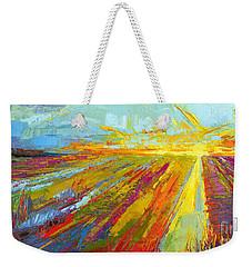 Emerald Dreams Modern Impressionist Oil Painting  Weekender Tote Bag