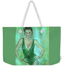 Emerald Greem Weekender Tote Bag by P J Lewis