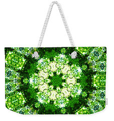 Weekender Tote Bag featuring the digital art Emerald Lace by Shawna Rowe