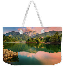 Emerald Mirror Weekender Tote Bag