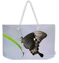 Emerald Peacock Swallowtail Butterfly V2 Weekender Tote Bag