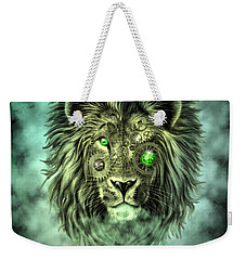 Emerald Steampunk Lion King Weekender Tote Bag