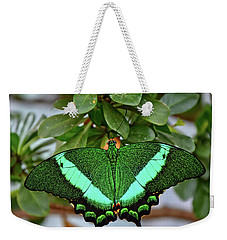 Emerald Swallowtail Butterfly Weekender Tote Bag