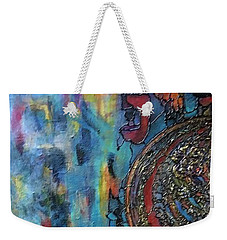 Weekender Tote Bag featuring the painting Emerging Artist by Rae Chichilnitsky