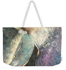 Weekender Tote Bag featuring the painting Emerging by Eleatta Diver