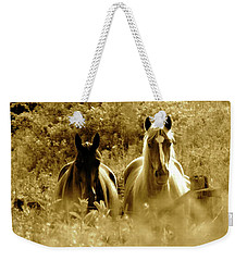 Emerging From The Farm Weekender Tote Bag