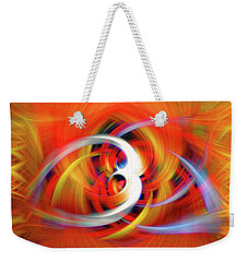 Emerging Light From A Colorful Vortex Weekender Tote Bag by Sue Melvin