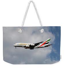 Emirates Airbus A380-861 5 Weekender Tote Bag