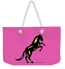 Emma II - Pop Art Horse - Black, Primrose Yellow, Pink Weekender Tote Bag