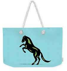 Emma - Pop Art Horse - Black, Greenery, Island Paradise Blue Weekender Tote Bag