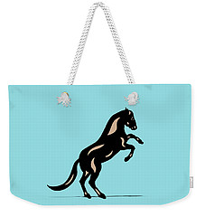Emma II - Pop Art Horse - Black, Hazelnut, Island Paradise Blue Weekender Tote Bag