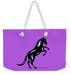 Emma II - Pop Art Horse - Black, Island Paradise Blue, Purple Weekender Tote Bag