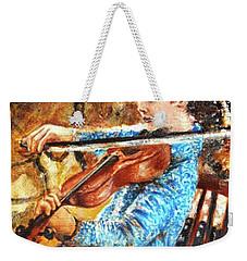 Emma's Violin Weekender Tote Bag