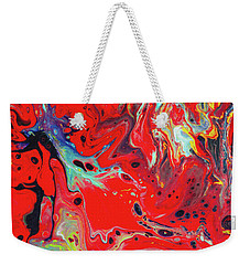 Emotional Soul - Red Abstract Canvas Painting Weekender Tote Bag
