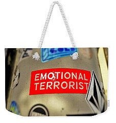 Emotional Terrorist In New York  Weekender Tote Bag by Funkpix Photo Hunter