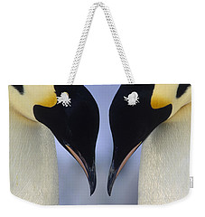 Weekender Tote Bag featuring the photograph Emperor Penguin Family by Tui De Roy