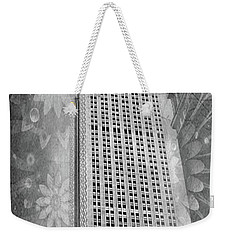 Weekender Tote Bag featuring the photograph Empire State Building by Angie Tirado