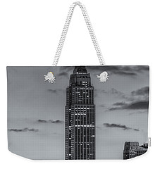 Empire State Building Morning Twilight Iv Weekender Tote Bag by Clarence Holmes