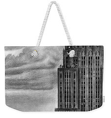 Empire State Building New York Pencil Drawing Weekender Tote Bag