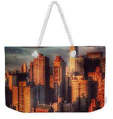 Empire State In Gold Weekender Tote Bag by Miriam Danar
