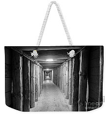 Weekender Tote Bag featuring the photograph Empty Corridor by Juli Scalzi
