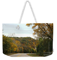 Weekender Tote Bag featuring the photograph Empty Highway by Yumi Johnson