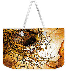 Weekender Tote Bag featuring the photograph Empty Nest by Jan Amiss Photography