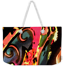 Weekender Tote Bag featuring the mixed media En Joy by Sandi OReilly