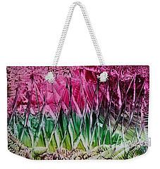 Encaustic Abstract Pinks Greens Weekender Tote Bag