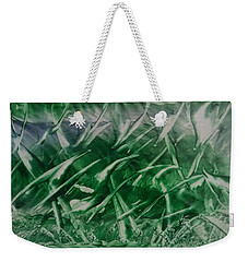 Encaustic Green Foliage With Some Blue Weekender Tote Bag