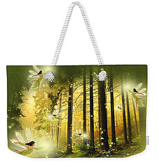 Enchanted Forest - Fantasy Art By Giada Rossi Weekender Tote Bag by Giada Rossi