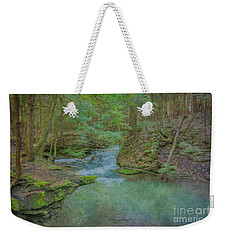 Weekender Tote Bag featuring the digital art Enchanted Forest One by Randy Steele