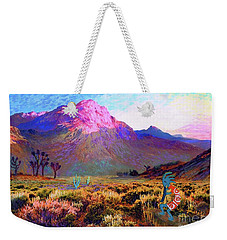Enchanted Kokopelli Dawn Weekender Tote Bag