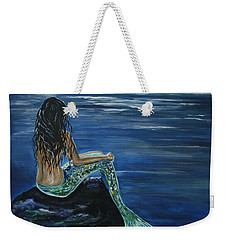Enchanted Mermaid Weekender Tote Bag by Leslie Allen