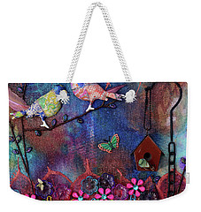Enchanted Patchwork Weekender Tote Bag by Donna Blackhall