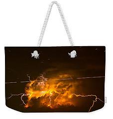 Enchanted Rock Lightning Weekender Tote Bag