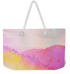 Weekender Tote Bag featuring the digital art Enchanted Scenery #2 by Klara Acel