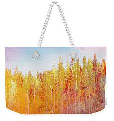 Weekender Tote Bag featuring the digital art Enchanted Scenery #3 by Klara Acel