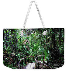 Weekender Tote Bag featuring the photograph Enchanted Walk by Gary Wonning