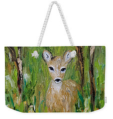 Weekender Tote Bag featuring the painting Enchantment by Judith Rhue