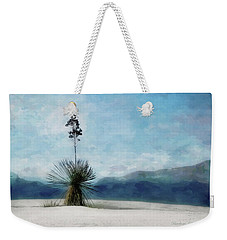 Enchantment Of The Yucca White Sands New Mexico Weekender Tote Bag by Barbara Chichester