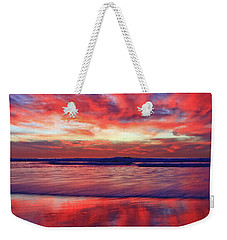 Weekender Tote Bag featuring the photograph Encinitas Afterglow by John F Tsumas