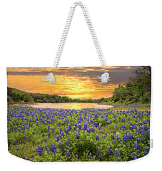 End Of A Bluebonnet Day Weekender Tote Bag