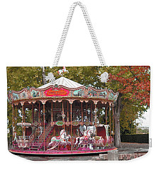 Weekender Tote Bag featuring the photograph End Of A Season by Victoria Harrington