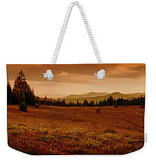 Weekender Tote Bag featuring the photograph End Of Day by Frank Wilson