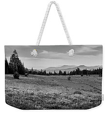 Weekender Tote Bag featuring the photograph End Of Day In B W by Frank Wilson