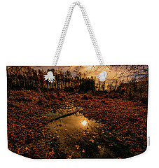 Weekender Tote Bag featuring the photograph End Of The Day by John Harding