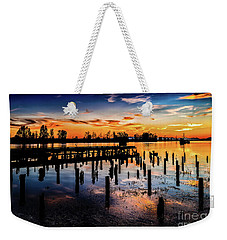 End Of The Fishing Day Weekender Tote Bag