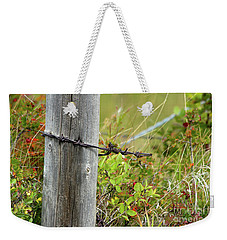 Weekender Tote Bag featuring the photograph End Of The Line by Ann E Robson