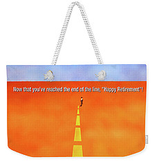 End Of The Line Greeting Card Weekender Tote Bag by Thomas Blood
